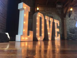 Light Up Letters 'LOVE'