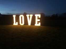 OUTDOOR LIGHT UP WEDDING LETTERS