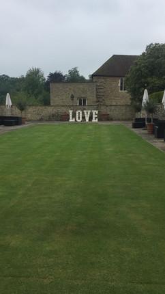 Wedding letters at Leeds Castle Kent
