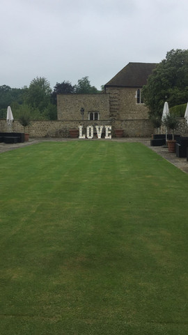 Wedding letters at Leeds Castle Kent