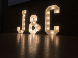 Light Up Initials J&C