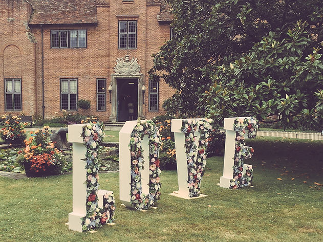 Wedding Floral LOVE Letters
