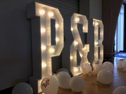 Light Up Initials P&B