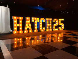 Light Up Letters 'HATCH 25'