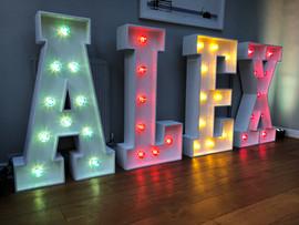 Light Up Letters 'ALEX'