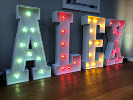 Light Up Letters 'ALEX'