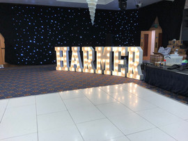Wedding Surname Light Up Letters
