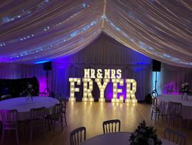 Light Up Letters 'MR&MRS FRYER'