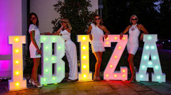 Light Up Letters 'IBIZA'