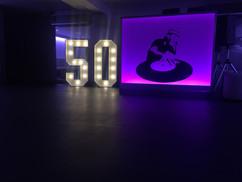 Big Number 50 Light up number