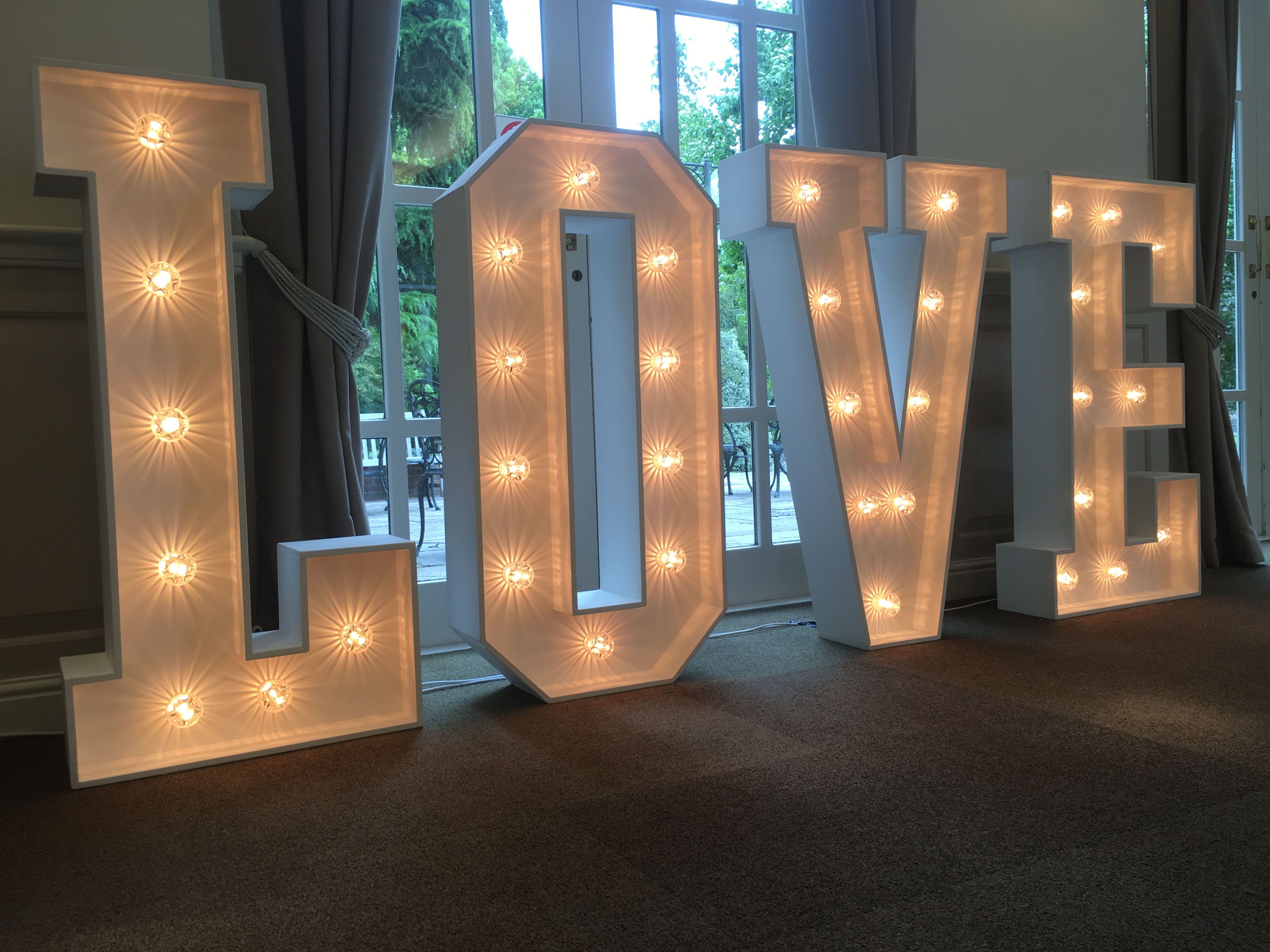 Giant Wedding LOVE letters Maidstone