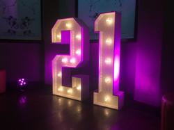 Light Up 21 number for birthdays
