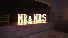 Light Up Letters 'MR&MRS'
