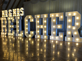 Light Up Letters 'MR & MRS BELCHER'