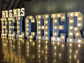 Light Up Letters 'MR & MRS BELCHER'