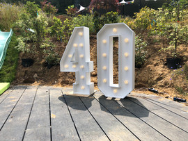 Light Up Numbers '40'