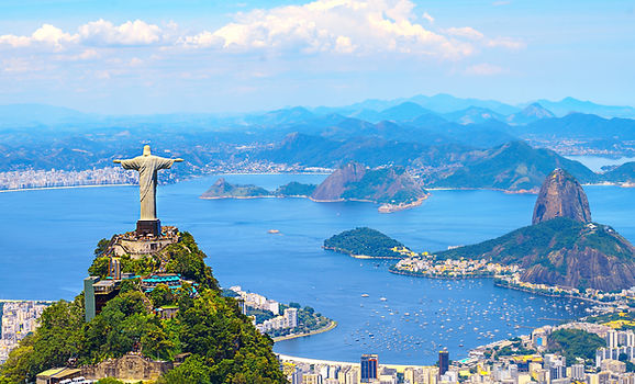 Aerial view of Rio de Janeiro with Chris