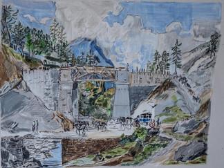 Die neue Strasse am Simplonpass Dillis 1806