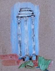 Tempel der Dioskuren Forum Romanum