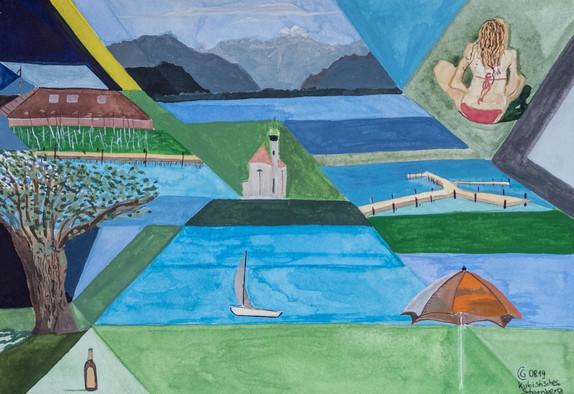 Kubistischer Lake View I