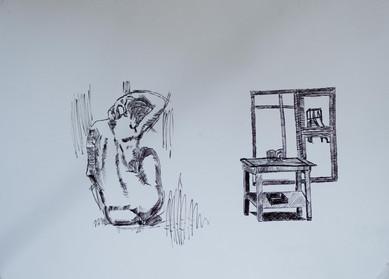 Akt im Atelier