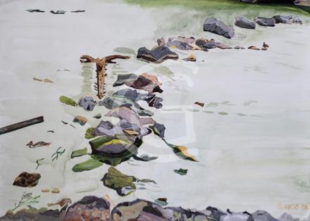 Steine im Fluß