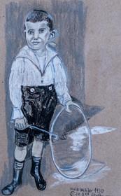 Junge mit Laufrad Walter Wetzler 1930