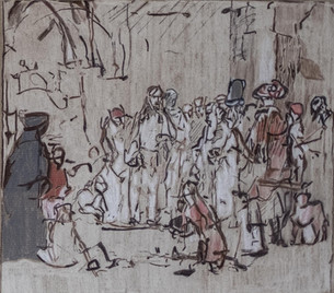 Christus und die Ehebrecherin Rembrandt 1659