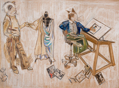 Cats in Atelier by Lucy McKenzie