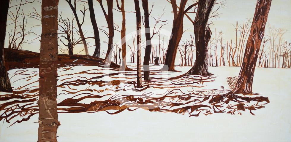 Monochromer Wald