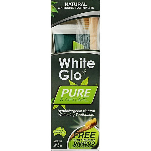 White Glo Pure & Natural Whitening Toothpaste 150g