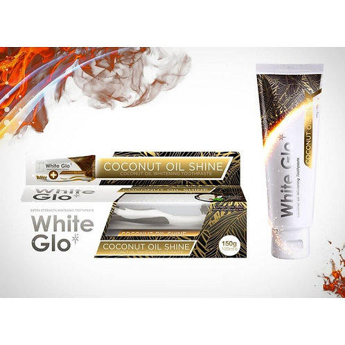 White Glo Coconut Oil Whitening Toothpaste Refreshing Coconut & Mint 150g