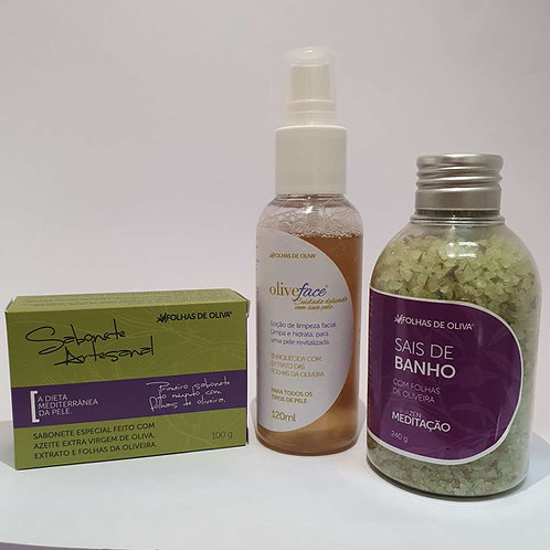 Kit Sabonete + Olive Face + Sais de Banho