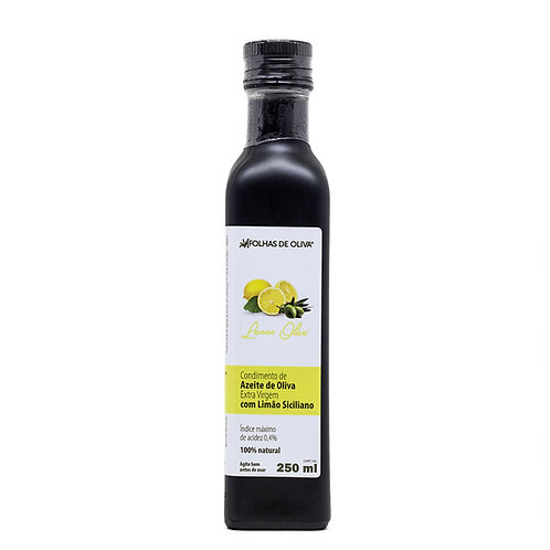 Condimento de azeite de oliva extra virgem com Limão Siciliano 250ml