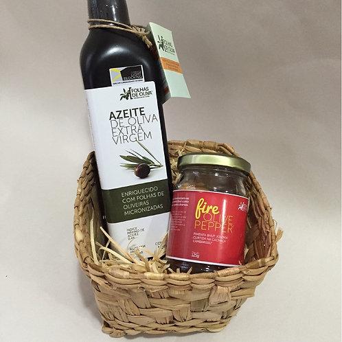 Kit Azeite Extra Virgem 500 ml + Pimenta Fire Olive Pepper