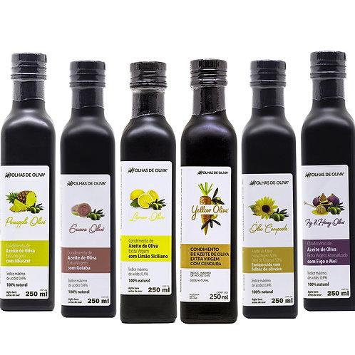Condimentos de Azeite Extra Virgem Saborizados 250 ml (Veja todas as opções)