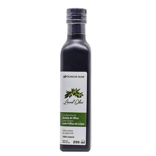 Condimento de azeite de oliva extra virgem com folhas de louro 250ml