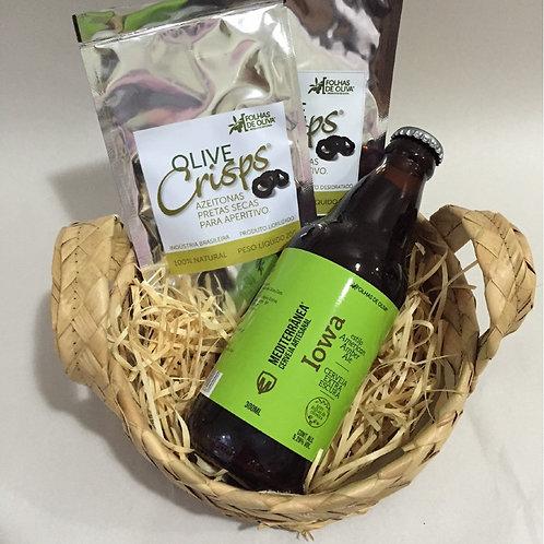 Kit Cerveja Mediterrânea Iowa + Olive Crisps