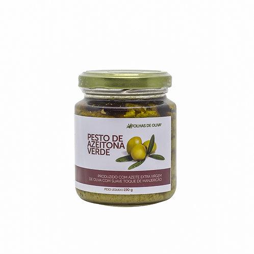 Pesto De Azeitona Verde - Folhas De Oliva - 190g
