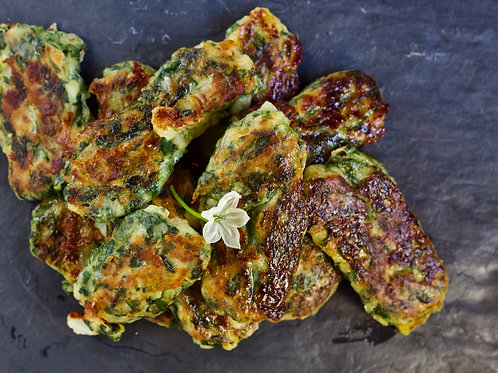 3 Cheeses Spinach Fritters
