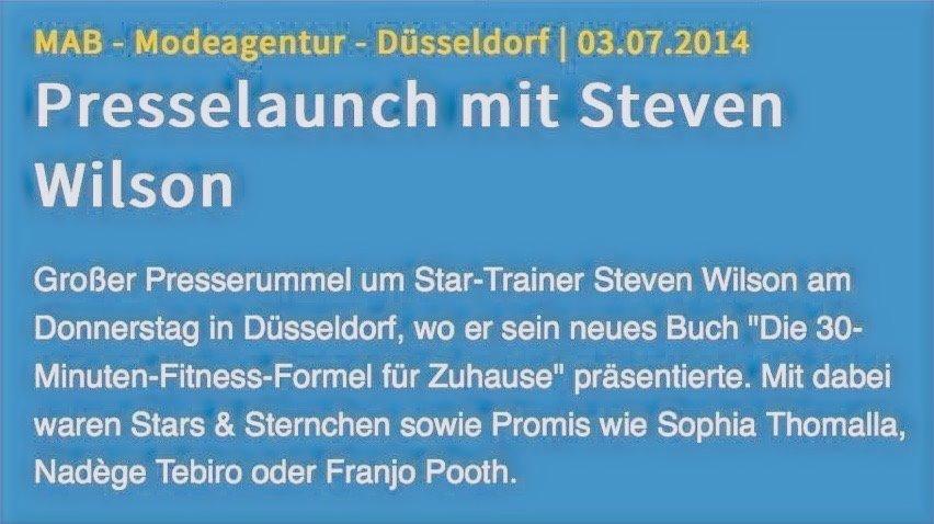 Presselaunch von Star Trainer Steven Wil