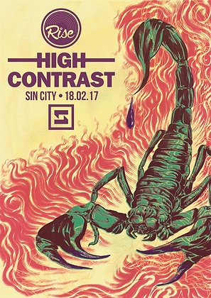 High Contrast Poster - Rise Swansea