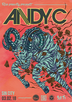 Andy C Poster - Rise Swansea