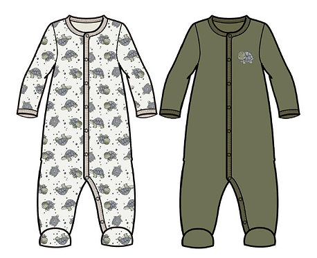 NBMNIGHTSUIT 2P W/F LODEN TURTLE NO