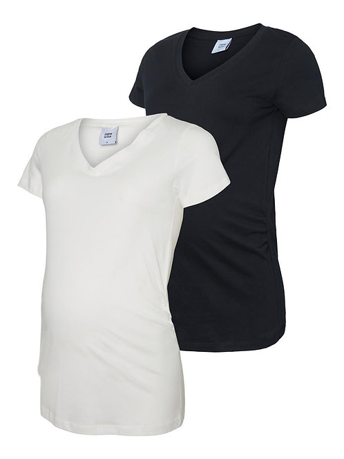 MLANNIA S/S JERSEY TOP 2-PACK A.