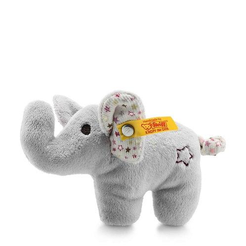 Mini Knister-Elefant mit Rassel