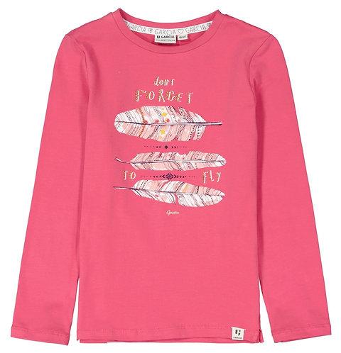 Garcia - Girls-T-Shirts l.sl.