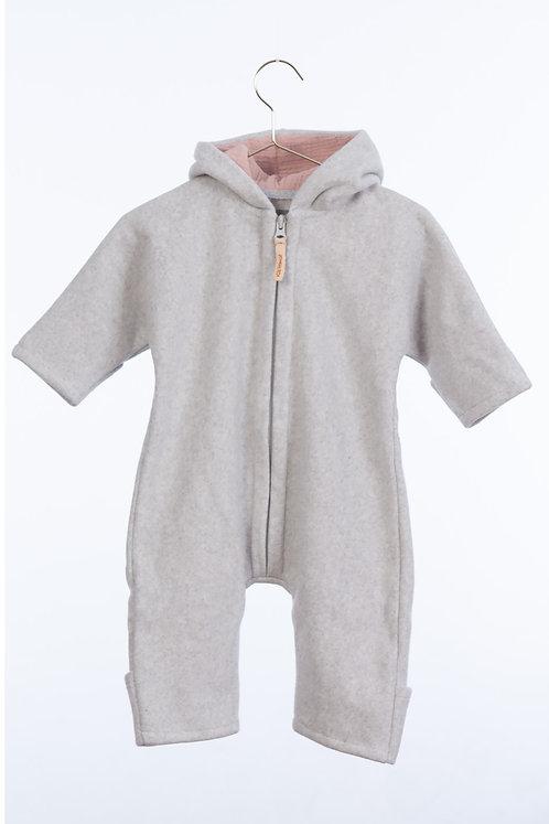 Kitz Heimat Overall JUNI Baumwoll-Fleece, grey/rose