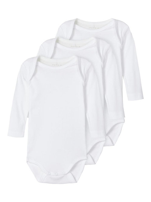 NBNBODY 3P LS SOLID WHITE 2 NOOS