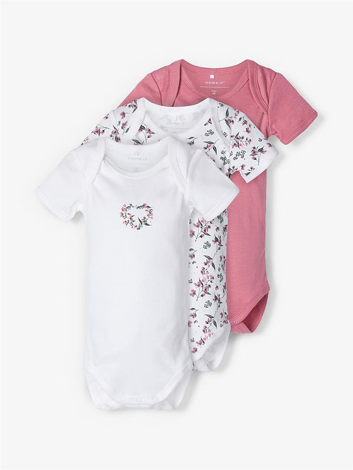 NBFBODY 3P SS HEATHER ROSE FLOWER N